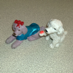 #86  Alice  cocker spaniel maltese mongrel Vintage Puppy in my pocket dogs 1995 (1)